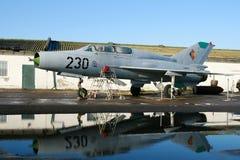 米格-21 Fishbed喷气式歼击机航空器 库存照片