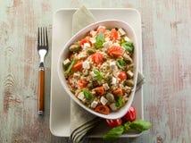 米沙拉豆腐素食主义者 库存照片