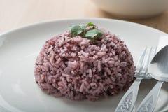 米混合紫色米莓果米 库存图片