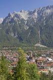 米滕瓦尔德在上巴伐利亚行政区 免版税库存图片
