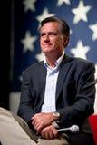 米特・罗姆尼出现在Mesa, AZ的一个市政厅会议上 免版税库存照片