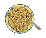 米狂放的蘑菇碗顶视图 库存图片