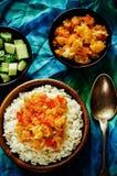 米用咖喱花椰菜 库存图片