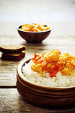 米用咖喱花椰菜 库存照片