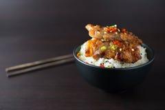 米用烤猪肉 库存图片