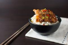 米用烤猪肉 免版税库存图片