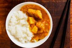 米用猪肉咖喱 免版税库存照片