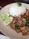 米用辣猪肉 库存照片