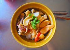 米用香肠和海鲜 库存照片