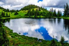 1995米的海拔的Tod湖在托德山附近上面的在Shuswap高地的 免版税库存照片