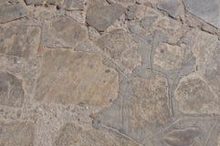 米科诺斯华美的布朗石墙  免版税图库摄影