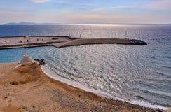 米科诺斯岛口岸 免版税库存图片