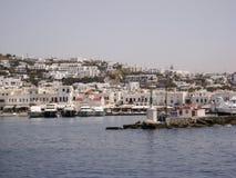 米科诺斯岛希腊人海岛 库存图片