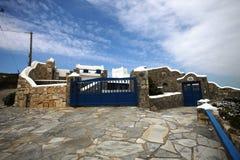 米科诺斯岛房子 免版税库存图片