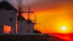 米科诺斯岛海湾 免版税图库摄影