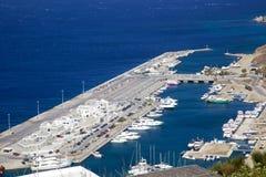 米科诺斯岛港口 免版税库存照片