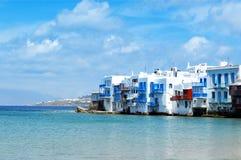 米科诺斯岛的一点威尼斯 希腊 免版税图库摄影