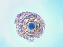 米科诺斯岛美好的一点行星全景  希腊 库存照片