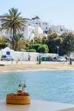 米科诺斯岛镇视图 库存图片