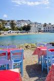米科诺斯岛镇视图 免版税库存图片
