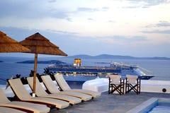 米科诺斯岛,希腊。 免版税图库摄影