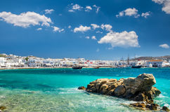 米科诺斯岛,希腊2017年7月4日: 免版税库存图片
