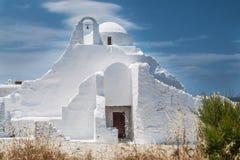 米科诺斯岛Panagia Paraportiani 免版税库存图片