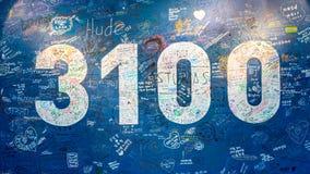 3100米签到Gornergrat观测所 这个标志显示高度Gornergrat 免版税库存照片