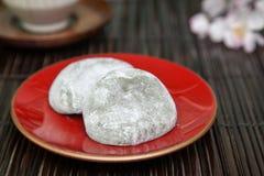米糕叫在板材的daihuku 库存照片