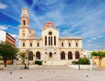 贴水米纳斯教会,伊拉克利翁,希腊 库存照片