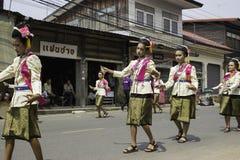 米缠绕节日,泰国 免版税库存照片