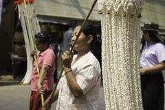 米缠绕节日,泰国 库存照片