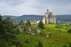 米罗城堡废墟风景在波兰 免版税库存照片