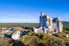 米罗城堡,波兰废墟  图库摄影