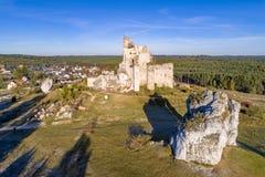 米罗城堡,波兰废墟  免版税库存图片