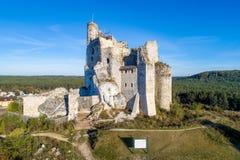 米罗城堡,波兰废墟  库存图片