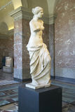 米罗的维纳斯(美之女神),希腊,加州雕象  150-125 BC在罗浮宫,巴黎,法国 免版税库存照片