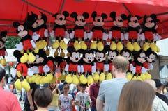 米老鼠在显示的材料玩具 免版税图库摄影