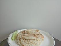 米蒸与鸡 免版税库存照片