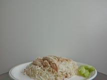 米蒸与鸡 库存图片