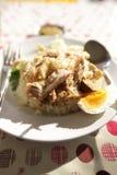 米蒸与鸡 库存照片