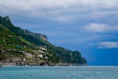 米诺利和马奥莱,阿马尔菲海岸,褶皱藻属,意大利 库存图片