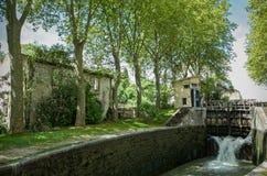 米迪运河卡斯泰尔诺达里法国 免版税库存图片