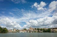 米迪运河在卡斯泰尔诺达里,法国 库存图片
