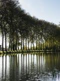 米迪运河视图,法国 免版税库存图片