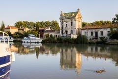 米迪运河,贝济耶,法国 库存图片