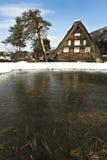 米领域在老村庄 免版税库存图片