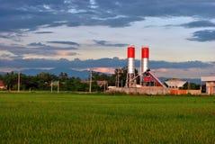 米领域的工厂 库存图片