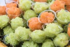 黏米饭在泰国 免版税库存图片