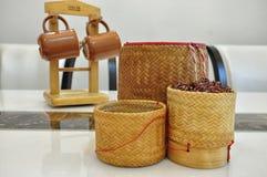 黏米饭桶 免版税图库摄影